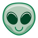 Cartoon Alien Emoji Isolated On White Background. Vector Cartoon Alien Emoji Isolated On White Background Stock Photos