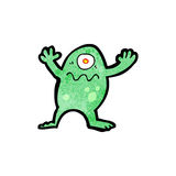Cartoon alien monster Stock Image