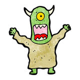 Cartoon alien monster Royalty Free Stock Image