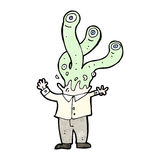 cartoon alien monster boss Stock Photography