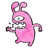 Cartoon alien rabbit Stock Photos