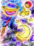 Cartoon Alien Space Stock Image