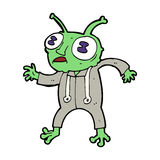Cartoon alien spaceman Stock Images