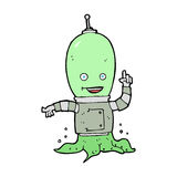 Cartoon alien spaceman Royalty Free Stock Photo