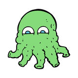 Cartoon alien squid face Royalty Free Stock Images