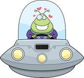 Cartoon Alien UFO Love Royalty Free Illustration