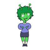 cartoon alien woman Stock Photo