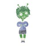 cartoon alien woman Stock Image