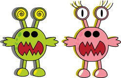 Cartoon aliens or monsters Stock Photos