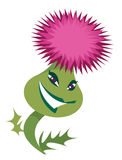 Cartoon alive character thistle Stock Photo
