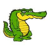 Cartoon Alligator. A vector illustration of a funny green and yellow cartoon alligator Royalty Free Stock Image