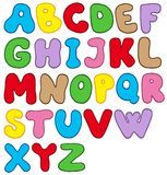 Cartoon alphabet Stock Photos