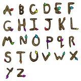 Cartoon alphabet Royalty Free Stock Images