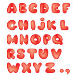 Cartoon Alphabet with All Letters. Vector Cartoon Alphabet with All Letters in kid style Royalty Free Stock Photo