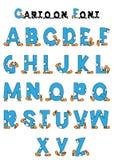 Cartoon alphabet Royalty Free Stock Photography