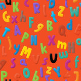 The cartoon alphabet - for the children Stock Images