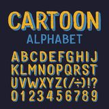 Cartoon alphabet font. Dirty letters, numbers and symbols on white background. vector illustration