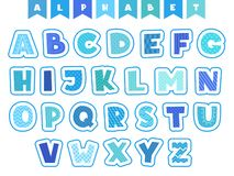 Cartoon alphabet. Letters fonts symbols and numbers vector colored funny characters isolated. Illustration of alphabetical education and colorful typeset stock illustration