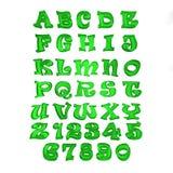 Cartoon Alphabet Letters Stock Image