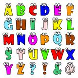 Cartoon alphabet letters Royalty Free Stock Photography