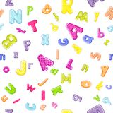 Cartoon alphabet pattern. On white background Stock Photos