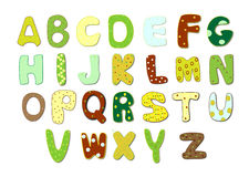 Cartoon alphabet vector Royalty Free Stock Photography