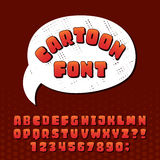 Cartoon alphabet vector font. Royalty Free Stock Images