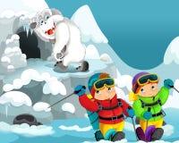 Cartoon alpinists Stock Photo