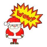 Cartoon amazed santa claus Royalty Free Stock Photography
