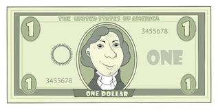 Cartoon American dollar Royalty Free Stock Images