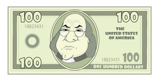 Cartoon American dollar Stock Photos