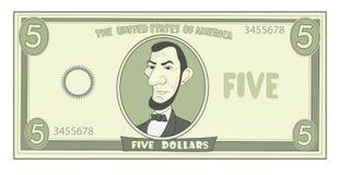 Cartoon American dollar Stock Image