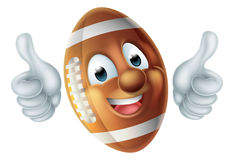 Cartoon American Football Ball Character Royalty Free Stock Photos
