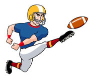 Cartoon American football player Royalty Free Stock Photo
