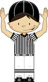 Cartoon American Football Refereee