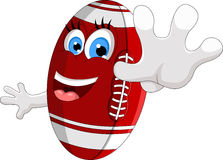 Cartoon American football survive Stock Images
