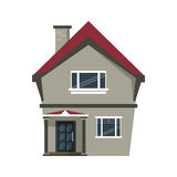 Cartoon american house domestic chimney. Vector illustration eps 10 Royalty Free Stock Image