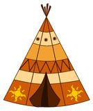 Cartoon american indian teepee illustration Royalty Free Stock Images