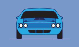 Cartoon American Muscle Car stock illustration