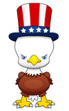 Cartoon American patriotic eagle Royalty Free Stock Image