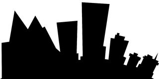 Cartoon Anchorage. Cartoon skyline silhouette of the city of Anchorage, Alaska, USA Stock Photos