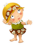 Cartoon ancient girl character isolated illustration for children Royalty Free Stock Photo