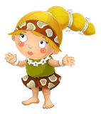 Cartoon ancient girl character isolated illustration for children Royalty Free Stock Photos