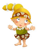 Cartoon ancient girl character isolated illustration for children Royalty Free Stock Photography