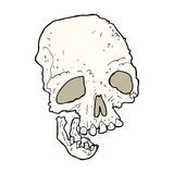 Cartoon ancient spooky skull Royalty Free Stock Photography