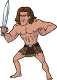 Cartoon ancient warrior Stock Photos