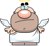 Cartoon Angel Bored Stock Image