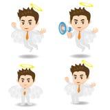 Cartoon angel Businessman positive thinking Stock Image