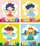 Cartoon angel card Stock Photography