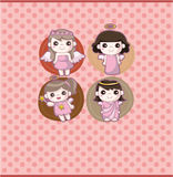 Cartoon angel card Stock Photo